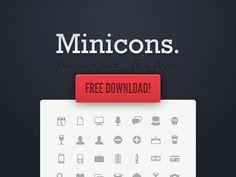 24 conjuntos de Mini Iconos gratuitos para descargar.