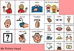 communication boards for various games and activities Autism Learning, Autism Activities, Language Activities, Learning Disabilities, Multiple Disabilities, Speech Language Therapy, Speech And Language, Speech Pathology, Speech Therapy