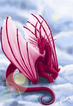 031 Flower by ShadeofShinon on DeviantArt Mystical Animals, Mythical Creatures Art, Magical Creatures, Fantasy Creatures, Pink Dragon, Baby Dragon, Fantasy World, Fantasy Art, Beautiful Dragon