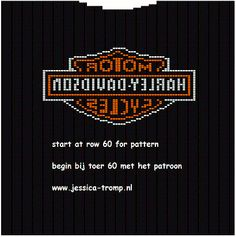 free harley davidson pattern chart for sweater