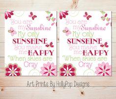 Baby Girl Nursery DecorNursery Art PrintsYou by HollyPopDesigns, $26.00