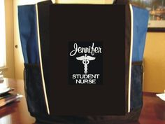 Tote Bag STUDENT NURSE GYM GRADUATION GIFT HOSPITAL MEDICAL OFFICE RN CNA LPN #PORTAUTHORITY #TotesShoppers
