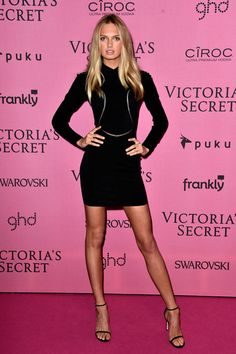 Romee Strijd Little Black Dress