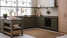 CC kitchen by Kvänum Green Kitchen, New Kitchen, Kitchen Dining, Kitchen Decor, Kitchen Cabinets, Kitchen Island, Kitchen Furniture, Kitchen Interior, Cocinas Kitchen