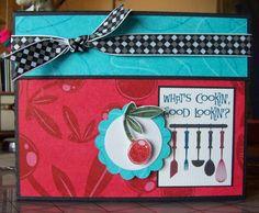 Crzymom's Tidbits: 50s Kitchen Blog Hop   Recipe box keepsake