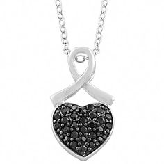 Sterling Silver Black Spinel Heart Necklace (18 inch) Kooljewelry http://www.amazon.com/dp/B00GWT26MS/ref=cm_sw_r_pi_dp_cPbTtb03S14EKSC8