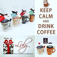 Kaffee-Pause aus Damen- und Herren-Socken Handgemachte Geschenke www.facebook.com/madebyLuly