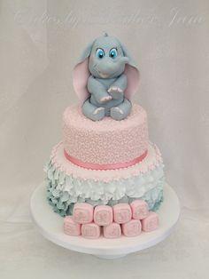 Baby Dumbo Christening Cake.