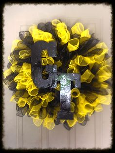 Ga Tech Wreath. Go Jackets!!!!