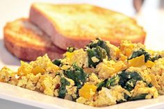 Scrambled eggs, move over! This tofu scramble has the taste and texture of scrambled eggs, without cracking a single shell.
