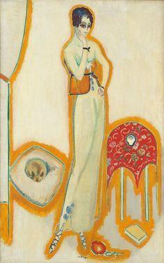 Femme au fond blanc, 1910-1914, Kees van Dongen. Dutch (1877 - 1968)