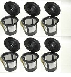 EopZol™ 6 x Solo Coffee Pod Filters Compatible with Keurig K cup coffee system *** Click on the image for additional details.