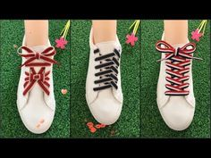 15 How to tie a nice laces Ways To Lace Shoes, How To Tie Shoes, Your Shoes, Creative Shoes, Unique Shoes, Basket Originale, Diy Fashion, Fashion Shoes, Scarf Knots