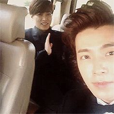 Sungmin and Donghae acting like kids on Instagram