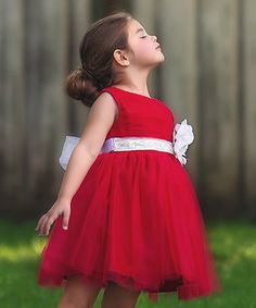 $34.99! Another great find on #zulily! Red Bella Holly Dress - Girls #zulilyfinds