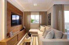 70 ideias de salas pequenas decoradas e lindas para se inspirar House Design, Room, Stone Walls Interior, Small Spaces, Home, Small Living Room, Living Room Diy, Studio Apartment Decorating, Interior Design