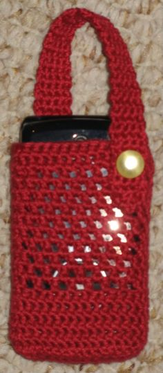 Crochet+Cell+Phone+Pouch | List of free cellphone cozy crochet patterns