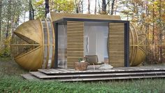 Cabin DROP XL is shoo-in for low-impact nature escapes : pre-fab micro-cabin by In-tenta, Spain   MNN - Mother Nature Network