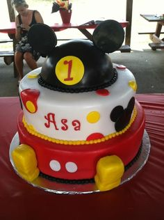Asa's 1st Mickey Mouse Birthday cake