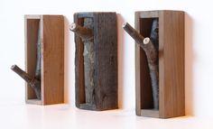 Tetris Organização: Interessante, não?!?_Cabideiro com restos de madeira