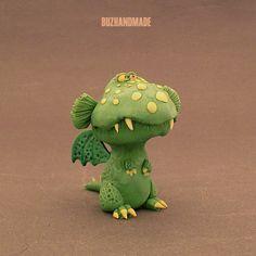 Mini Dragon 3D number #36 | BUZHANDMADE Polymer Clay Dragon, Polymer Clay Crafts, Clay Monsters, Cute Dragons, Clay Figurine, Baby Dragon, Egg Art, Clay Design, Clay Animals