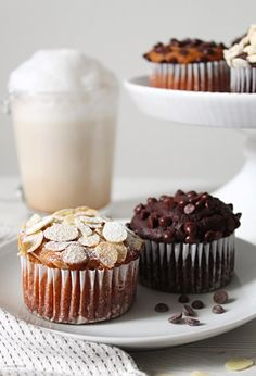 Biscotti, Baileys Cake, Almond Muffins, Light Cakes, Plum Cake, Cupcakes, Bread Cake, Vegan Cake, Mini Desserts