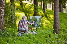 Woman Painting at Pavlovsk Park in Russia by NostalgiaPhotographs, $30.00