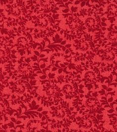 Keepsake Calico™ Cotton Fabric-Swirling Vines Red