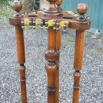Vintage oak revolving cue stand.B621 | Browns Antiques Billiards and Interiors.