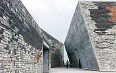 To make a mountain out of a museum, architect Wang Shu adopted a kind of geological will.