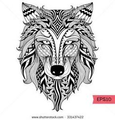 zentangle adult coloring pages printable for wolf coloring pages - Wolf Coloring Pages For Adults