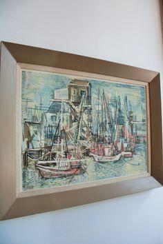 Guy McCoy Signed Screenprint- Pink Boats- 1940s