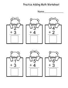 Kindergarten Printable Worksheets Math | Learning Printable