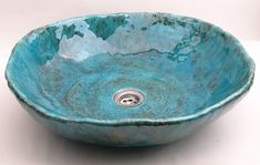 Ceramic Sink - big bowl Hand-formed. Fully functional. Glazed and fired repeatedly. Waterproof and durable moisture-resistant, abrasion, detergents.