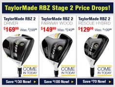 Come in today and check out TaylorMade RBZ stage 2 price drops: http://www.progolfseattle.com/current-sale #GolfForeLess