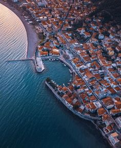 Gorgeous aerial view of Nafpaktos - Greece