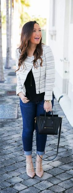 Cardigans go perfectly well in Office || Casual Work Outfits || Fall Work Outfits || Winter Work Outfits || 120 Casual Work Outfits Ideas 2017