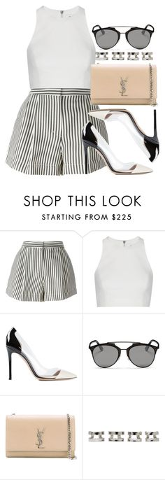 """""""Style #9962"""" by vany-alvarado ❤ liked on Polyvore featuring 3.1 Phillip Lim, Elizabeth and James, Gianvito Rossi, Christian Dior, Yves Saint Laurent and Maison Margiela"""