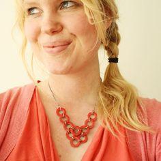 DIY – Washer necklace: guarnizioni di gomma+smalto per unghie!