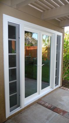 Vinyl French Door with Sidelights French Doors With Sidelights, Sliding French Doors, Windows And Doors, French Doors Bedroom, French Doors Patio, French Patio, Garden Doors, Patio Doors, Tiny House Hotel