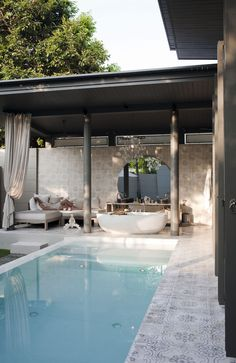 Pool design inspiration bycocoon.com | villa design | hotel design | bathroom design | design products | Dutch Designer Brand COCOON