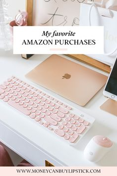 Home Office Decor Ideas For A Work Effective Office Home Office Space, Home Office Design, Home Office Decor, Pink Office Decor, Office Workspace, Decorating Office At Work, Small Office Decor, Work Office Decorations, Office Room Ideas