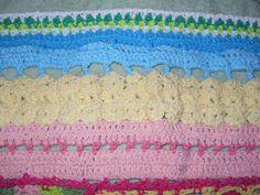 Franja con distintas muestras de tejidos de 600 puntos de cadenetas,tejida entre el 12 de octubre hasta el 24 de octubre,para la manta hippie