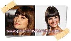 Parecidos con famosos: Alinne Moraes Actriz Brasileña con Ares Teixidó