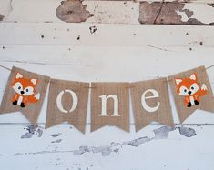 One Banner, A Fox One Banner, Fox Highchair Banner, Woodland one Banner, Birthday Everything Els 1st Birthday Decorations, 1st Birthday Banners, Boy First Birthday, Boy Birthday Parties, Birthday Ideas, Farm Birthday, Birthday Invitations, Christmas Decorations, Fox Party