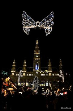Christmas time at Vienna's Christmas Market, Austria