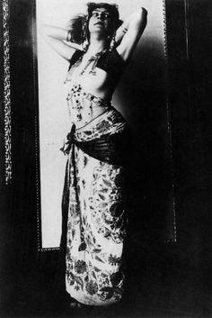 """Fotografische Bildnisstudie zu """"Salome"""", Gemälde von 1906 - Franz von Stuck"""