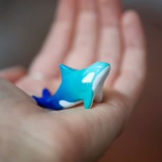 Le Guardian Orca Whale Totem  Blue Ombre by leanimale on Etsy, $40.00