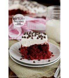 Red Velvet Tres Leches Cake | www.tasteandtellblog.com #recipe #redvelvet #valentinesday