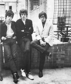 Keith Richards, Mick Jagger and Charlie Watts, The Rolling Stones
